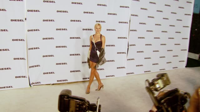 dominica walsky at the diesel celebrates the opening of the melrose place flagship store at diesel melrose place in los angeles california on may 30... - store opening stock videos & royalty-free footage