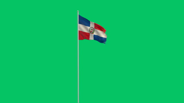 dominican flag rising - dominican revolutionary party stock videos & royalty-free footage
