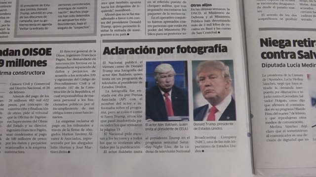 a dominican newspaper apologized sunday for publishing a photo of actor alec baldwin in his satirical role as us president donald trump alongside an... - article stock videos and b-roll footage