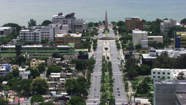 dominican republic: aerial view of santo domingo - dominican republic stock videos and b-roll footage