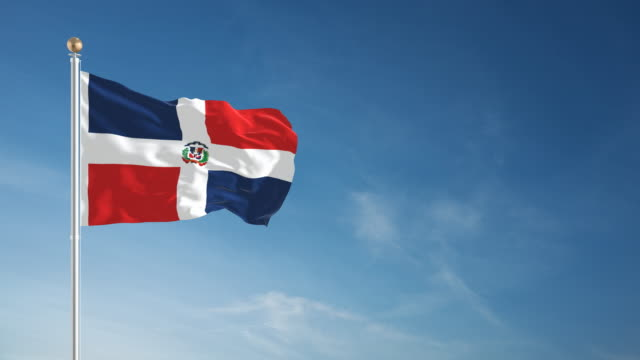 4k dominican republic flag - loopable - dominican republic stock videos and b-roll footage