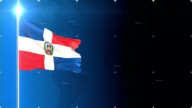dominican republic flag - dominican republic stock videos and b-roll footage