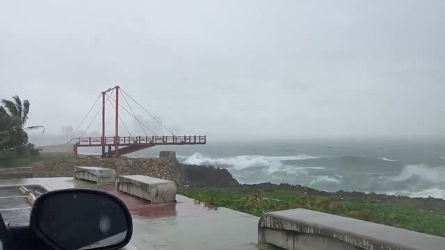 dominican republic is battered by tropical storm elsa strong winds on saturday, july 3. residents living in coastal barahona were evacuated as severe... - extreme weather stock videos & royalty-free footage