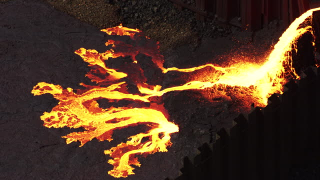 dominican republic: molten metal poured - foundry stock videos & royalty-free footage