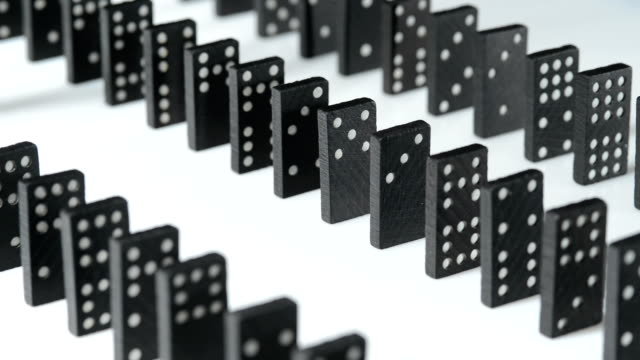 domino - dominoes stock videos & royalty-free footage
