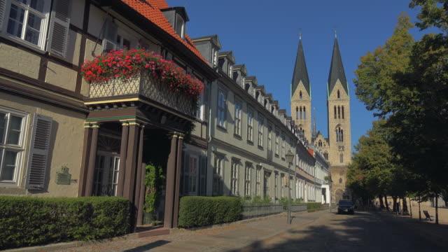 Domplatz Square and Halberstadt Cathedral of St. Stephen and St. Sixtus, Halberstadt, Saxony-Anhalt, Germany