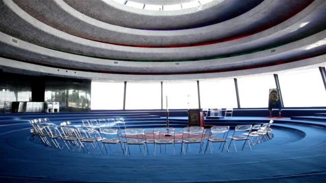 domus galilaeae - auditorium - auditorium stock videos and b-roll footage