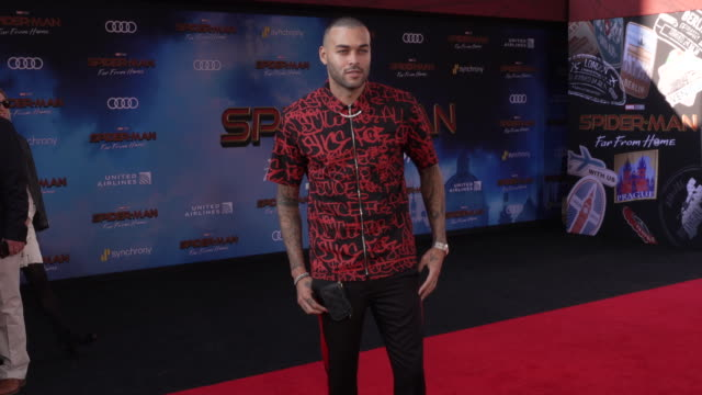 don benjamin at the world premiere of spiderman far from home on june 26 2019 in hollywood california - red carpet event stock videos & royalty-free footage