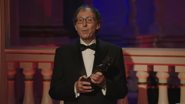 don black talks about the importance of music at oliver awards 2020 on october 20 in london, uk. - presentation stock videos & royalty-free footage