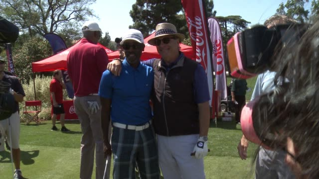 Don Cheadle and Andy Garcia at Lakeside Golf Club on May 02 2016 in Burbank California