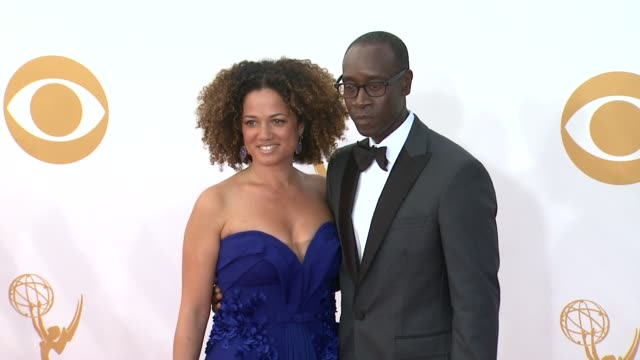 don cheadle and bridgid coulter at 65th annual primetime emmy awards - arrivals don cheadle and bridgid coulter at 65th annual at nokia theatre l.a.... - annual primetime emmy awards stock-videos und b-roll-filmmaterial