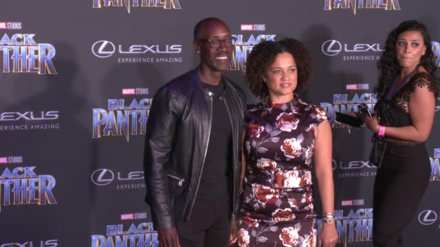 Don Cheadle and Bridgid Coulter at the Marvel Studios' 'Black Panther' World Premiere at Dolby Theatre on January 29 2018 in Hollywood California