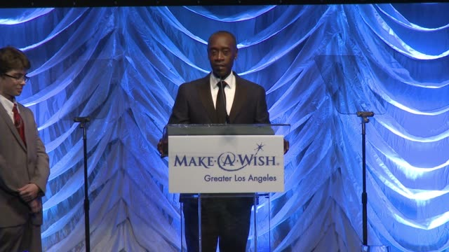 SPEECH Don Cheadle at 4th Annual Wishing Well Winter Gala Presented by MakeAWish Greater Los Angeles in Los Angeles CA