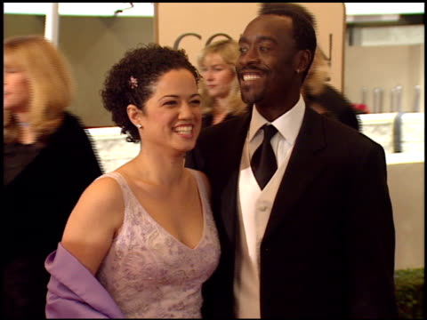 Don Cheadle at the 1999 Golden Globe Awards at the Beverly Hilton in Beverly Hills California on January 24 1999