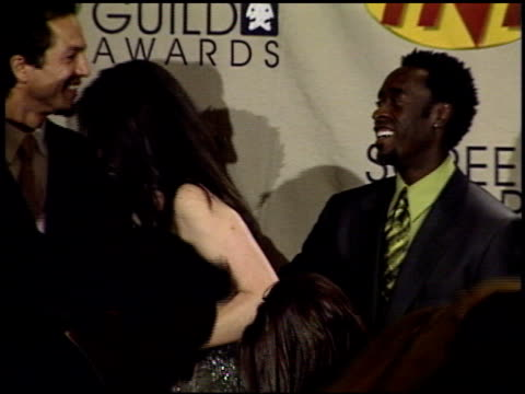 Don Cheadle at the 2001 Screen Actors Guild SAG Awards press room at the Shrine Auditorium in Los Angeles California on March 11 2001
