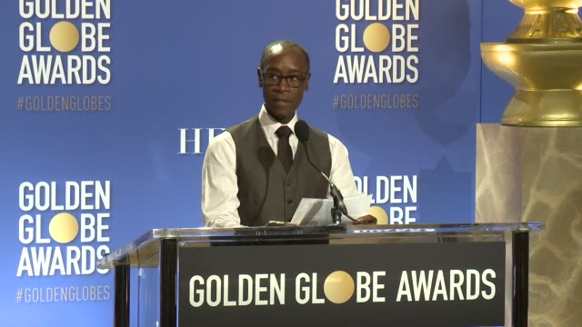 ANNOUNCEMENT Don Cheadle at the Nominations Announcement For The 74th Annual Golden Globe Awards at The Beverly Hilton Hotel on December 12 2016 in...