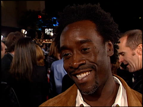 Don Cheadle at the 'Oceans 11' Premiere at the Mann Village Theatre in Westwood California on November 5 2001