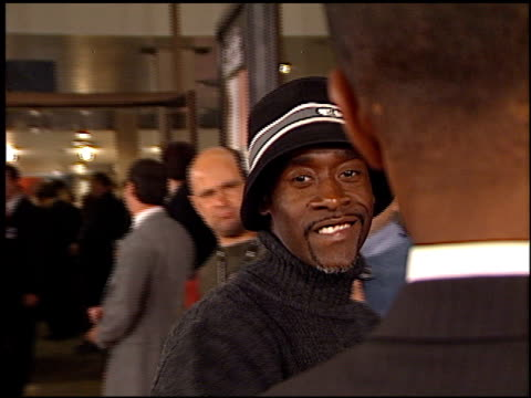 Don Cheadle at the 'Solaris' Premiere at the Cinerama Dome at ArcLight Cinemas in Hollywood California on November 19 2002