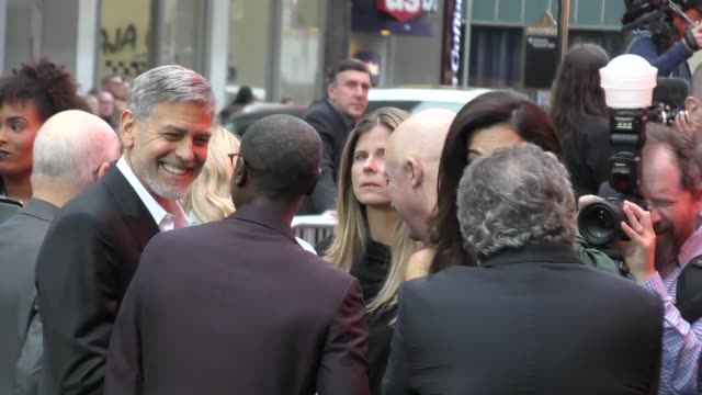 don cheadle george clooney amal clooney jim gianopulos outside the catch22 premiere at tcl chinese theatre in hollywood in celebrity sightings in los... - george clooney stock videos & royalty-free footage