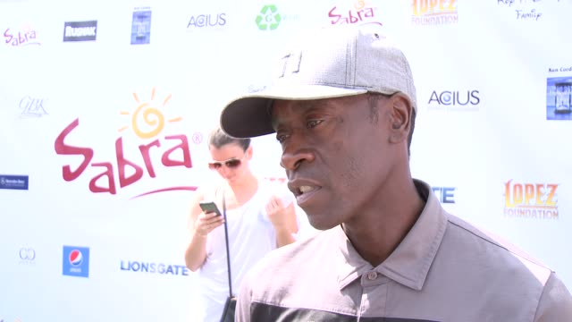INTERVIEW Don Cheadle on being a part of the afternoon at The 7th Annual George Lopez Celebrity Golf Classic Presented By Sabra Salsa at Lakeside...