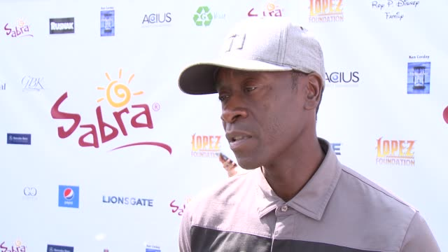 INTERVIEW Don Cheadle on George Lopez's philanthropic efforts and the organization's mission at The 7th Annual George Lopez Celebrity Golf Classic...