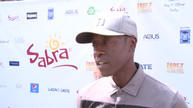 INTERVIEW Don Cheadle on how he got into golf and if he plays often at The 7th Annual George Lopez Celebrity Golf Classic Presented By Sabra Salsa at...