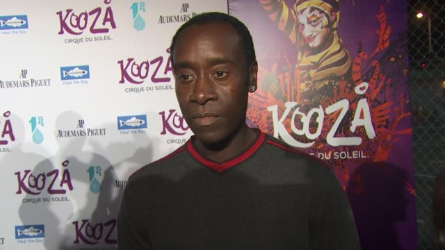 Don Cheadle on the event Heal the Bay upcoming projects at the KOOZA Opening Night Gala To Benefit The One Drop Foundation Heal The Bay at Santa...