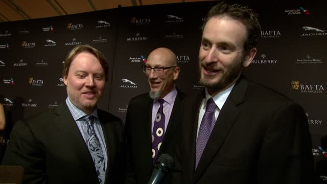 interview don hall roy conli and chris williams on being at the event on what makes the bafta tea party one of the most prestigious events of the... - tea party stock videos and b-roll footage