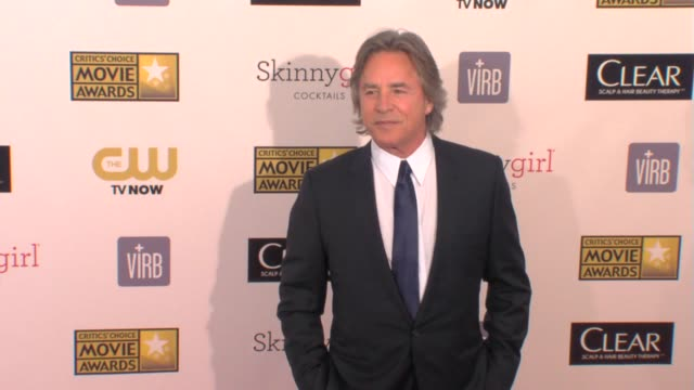 don johnson at 18th annual critics' choice movie awards 1/10/2013 in santa monica, ca. - critics' choice movie awards stock videos & royalty-free footage
