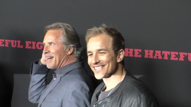 don johnson jesse johnson at the hateful eight premiere at arclight theatre in hollywood at celebrity sightings in los angeles on december 07 2015 in... - 2015 video stock e b–roll