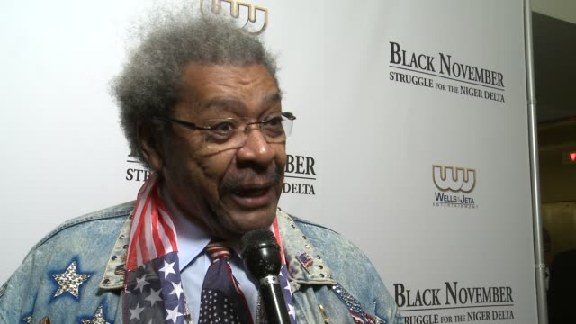 Don King says this brings to light an unjust situation at 'Black November' Screening At The Library Of Congress Washington DC on