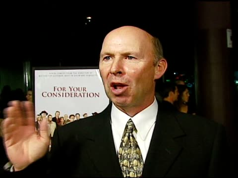 don lake on his character in the film and christopher guests directing style at the 'for your consideration' los angeles premiere at director's guild... - directing stock videos & royalty-free footage