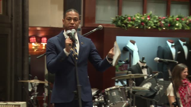 speech – don lemon on hamilton ticket raffle at brooks brothers celebrates the holidays with st jude children's research hospital at brooks brothers... - st. jude children's research hospital stock videos and b-roll footage