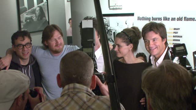 donal logue zach braff amada peet jason bateman and guest at the 'the ex' premiere at director's guild of america in new york new york on may 3 2007 - director's guild of america stock videos & royalty-free footage