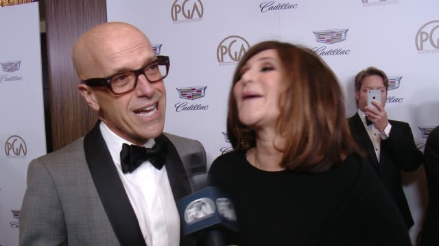 INTERVIEW Donald De Line and Amy Pascal at 29th Annual Producers Guild Awards presented by Cadillac at The Beverly Hilton Hotel on January 20 2018 in...