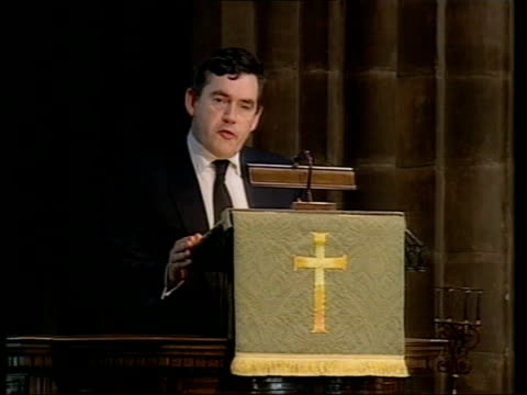 donald dewar funeral gordon brown mp tribute sot the friend we lost was one of only a handful of people who have founded a parliament / what... - handful stock videos & royalty-free footage