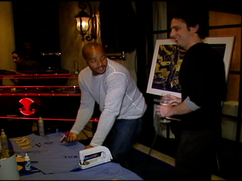 Donald Faison and Zach Braff at the 'Blue Scrubs' Celebration of the Sixth Season of 'Scrubs' hosted by Johnnie Walker Blue on November 15 2006