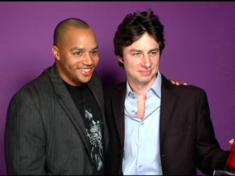 Donald Faison and Zach Braff at the Hollywood Life's 4th Annual Breakthrough of the Year Awards Portrait Studio at the Music Box Theatre in Los...