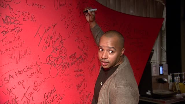 donald faison at mcdonald's mccafe presents the wireimage portrait studio at village at the lift on in park city utah - mcdonald's stock videos and b-roll footage