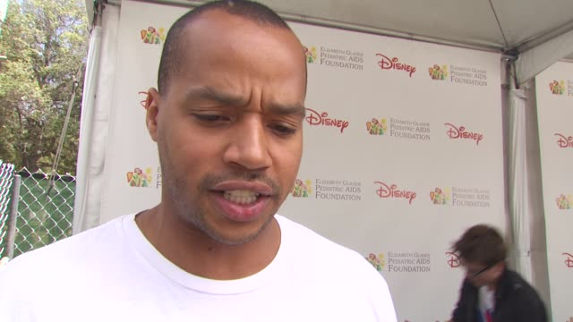 donald faison on being here on his favorite part of the day at the 21st annual 'a time for heroes' celebrity picnic benefit at los angeles ca - a time for heroes stock videos & royalty-free footage