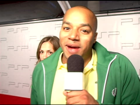 Donald Faison on his feelings for Xbox and Playstation at the PretaPSP Accessories Show at Pacific Design Center in West Hollywood California on...