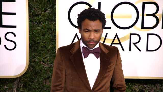 donald glover at 74th annual golden globe awards - arrivals at 74th annual golden globe awards - arrivals at the beverly hilton hotel on january 08,... - the beverly hilton hotel stock videos & royalty-free footage