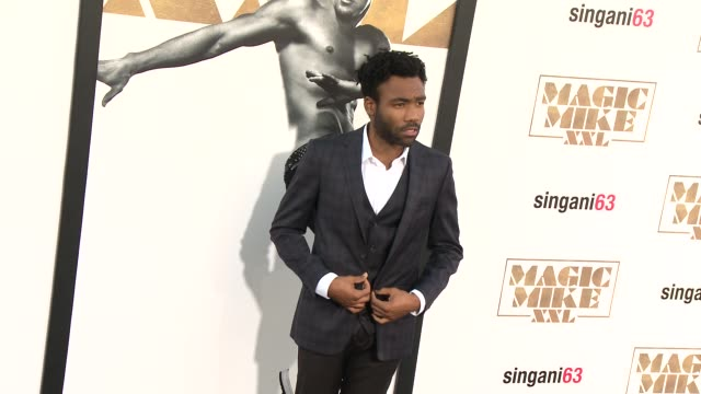 donald glover at the los angeles world premiere of warner bros pictures' magic mike xxl at tcl chinese theatre on june 25 2015 in hollywood california - 2015 stock videos & royalty-free footage