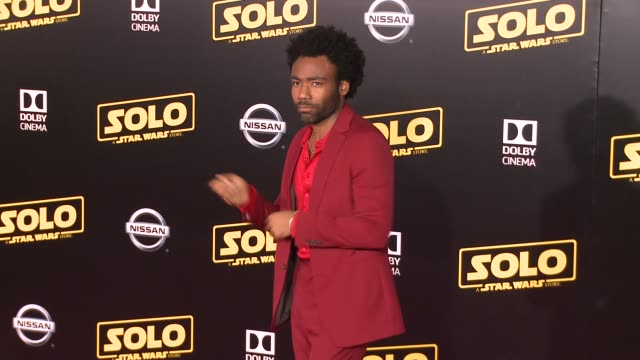 """donald glover at the """"solo: a star wars story"""" world premiere at the el capitan theatre on may 10, 2018 in hollywood, california. - el capitan theatre stock videos & royalty-free footage"""