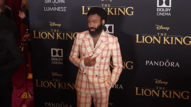 Donald Glover at the World Premiere of Disney's The Lion King at Dolby Theatre on July 09 2019 in Hollywood California