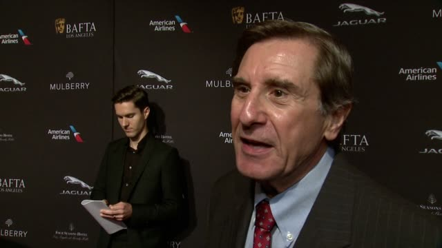 interview donald haber on being at the event on what makes the bafta tea party one of the most prestigious events of the weekend and on getting ready... - tea party stock videos and b-roll footage