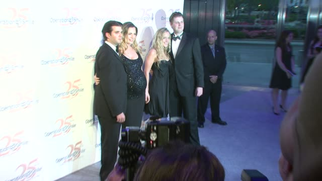 donald jr, vanessa, eric trump, and cheryl nieman at the 25th operation smile couture event hosted by billy bush and naomi campbell at 7 world trade... - vanessa trump stock videos & royalty-free footage