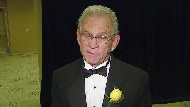 donald m morgan about receiving the asc television career achievement award about earning 5 emmy awards about not getting an oscar and future... - hyatt stock videos & royalty-free footage