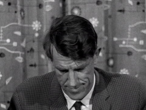 Donald Milner talks to Sir Edmund Hillary about the Yeti scalp he has brought back from his expedition to the Himalayas