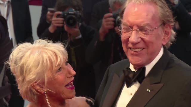 Donald Sutherland and Helen Mirren hit the red carpet for The Leisure Seeker by Italian director Paolo Virzi in competition at the Venice Film...